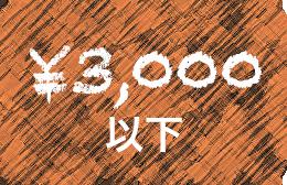 ¥3,000以下